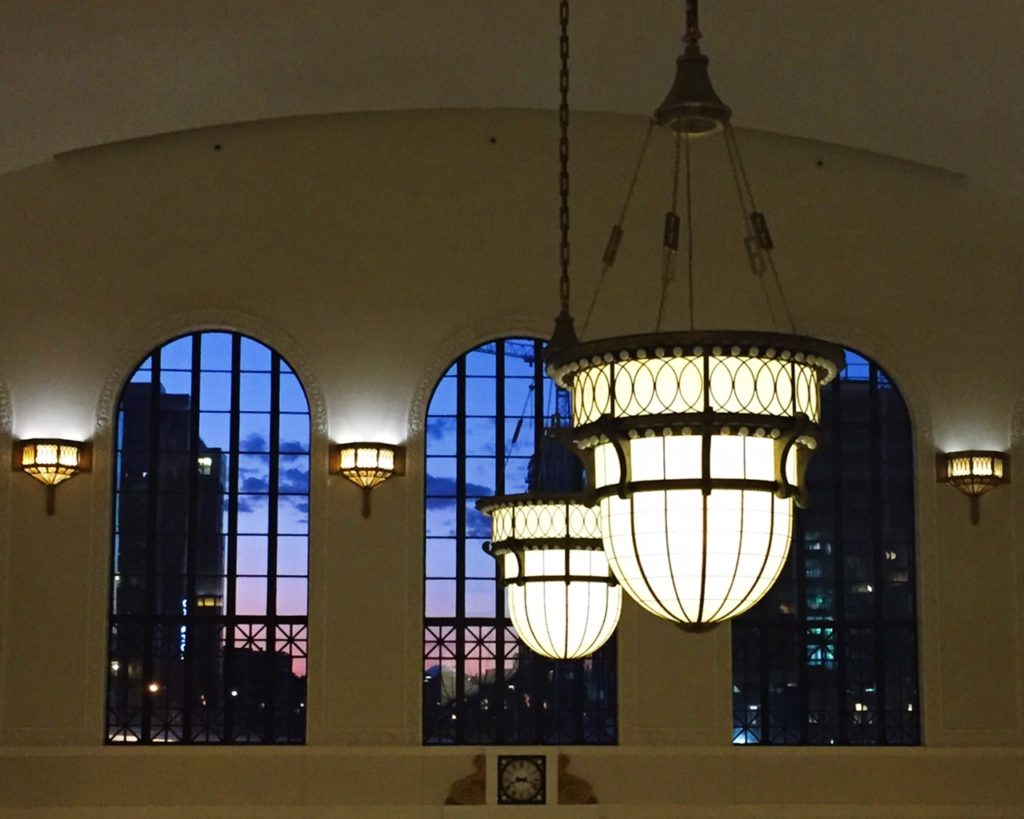 View of the top of Union Station from the Cooper Lounge
