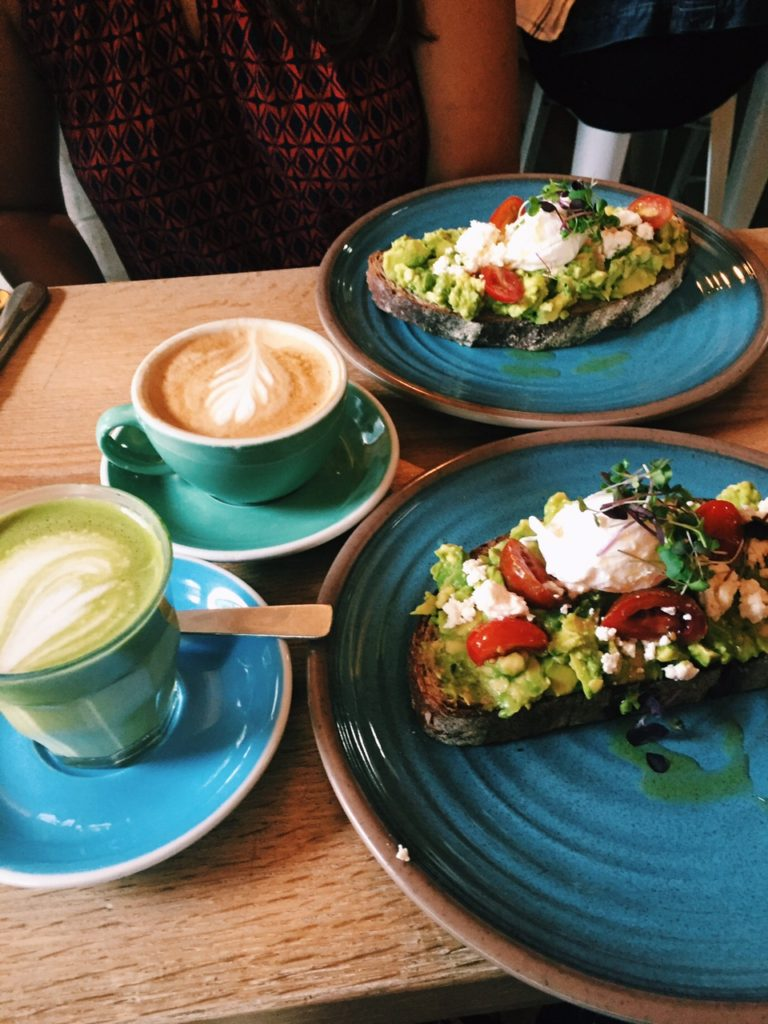 bluestone lane, new york city coffee shops, best avocado toast