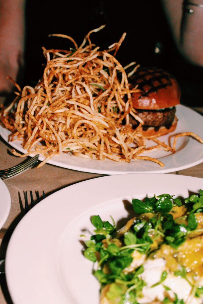 the spotted big, the spotted big burger, the spotted pig fries