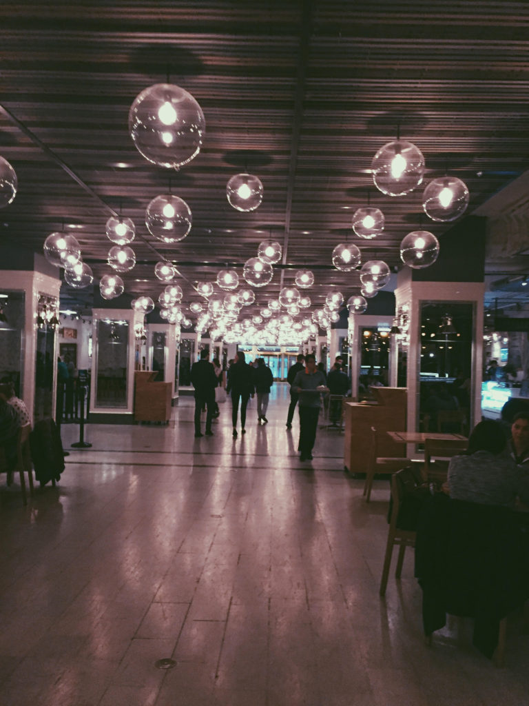 cool vibes inside Revival Food Hall