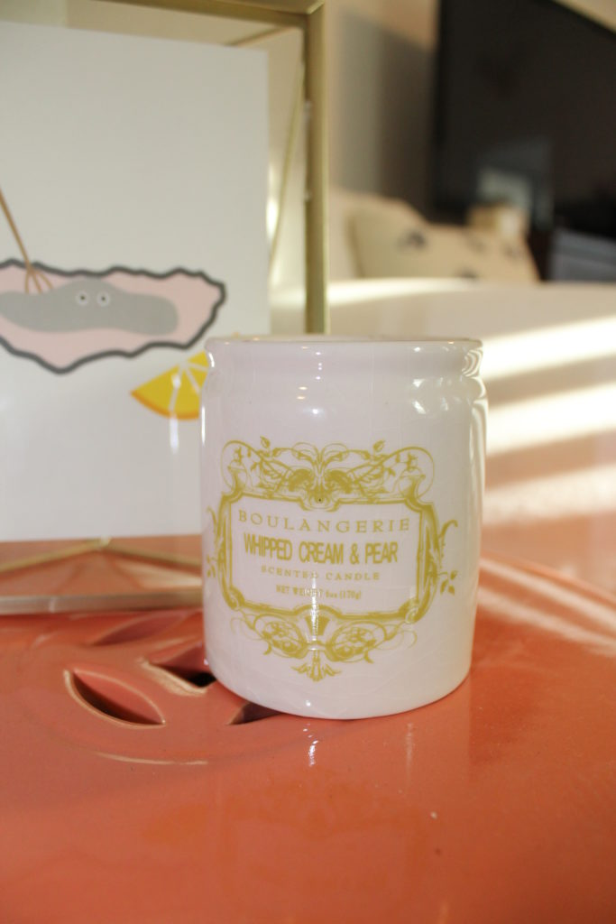 boulangerie candle, whipped cream and pear candle, best candle