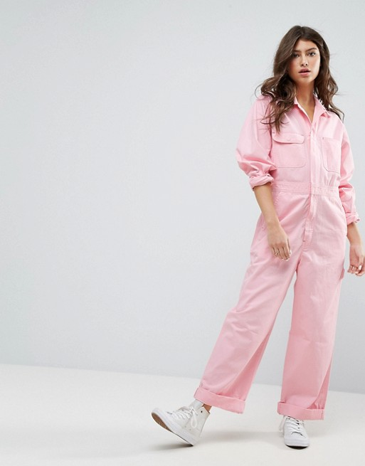 pink boilersuit, pink boilersuit from asos, asos pink jumpsuit