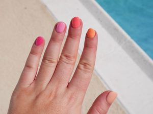 dip polish review, dip polish, different color on each finger